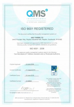 Geo Therm Ltd  QMS ISO 9001 Certificate 2015
