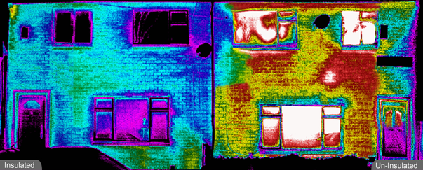 ir image  semi with missing insulation