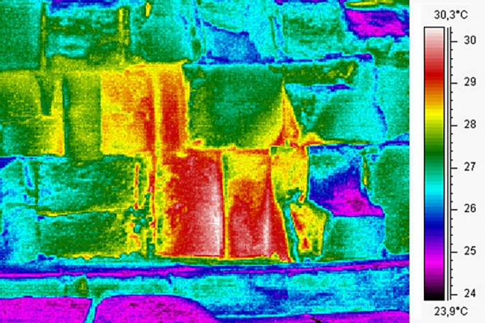 Thermal scan of the Great Pyramid of Giza