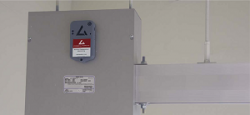 Delta T Alert attached to busbar enclosure