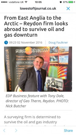 Geo Therm Ltd - Lowestoft Journal Article - Nov 2016