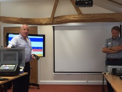 Martin Roberts CEO and Paul Goodbody presenting