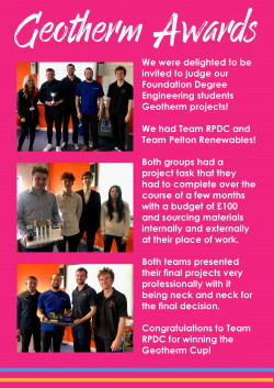 Geo Therm Ltd Foundation Degree Award Winners